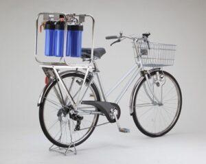 緊急用浄水器自転車